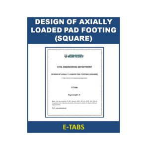 DESIGN OF AXIALLY LOADED PAD FOOTING (SQUARE)