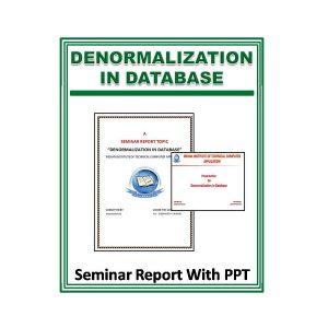 Denormalization in Database