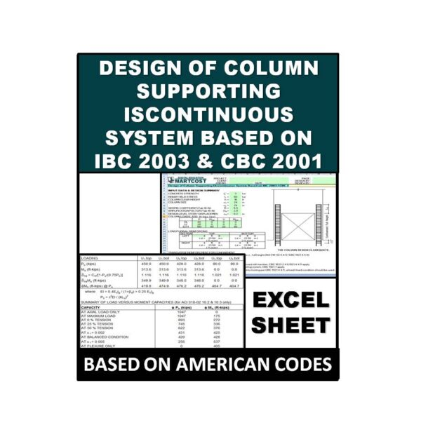 Design of Column Supporting Discontinuous System Based on IBC 2003 & CBC 2001