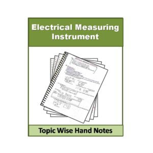 Electrical Measuring Instrument Physics Hand Note