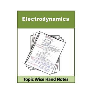 Electrodynamics Physics Hand Note