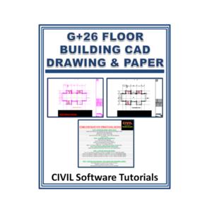 G+26 Floor Building Cad Drawing & Paper With Etabs Code