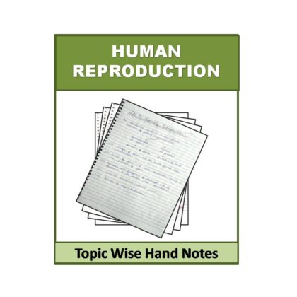 Human Reproduction Biology Hand Note