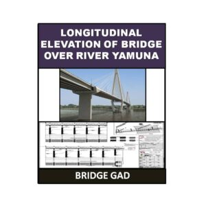 Longitudinal Elevation of Bridge Over River Yamuna