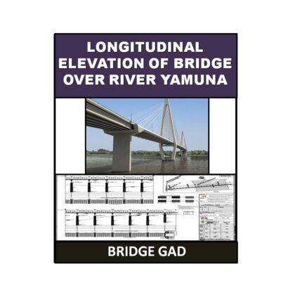 Longitudinal Elevation of Bridge Over River Yamuna