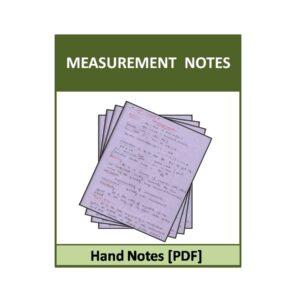 Measurements-ACE-EC Hand notes
