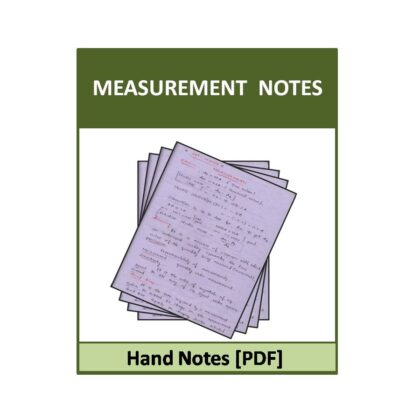 Measurement Hand Note