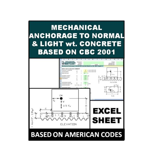 Mechanical Anchorage to Normal and Light Wt Concrete Based on CBC 2001 Chapter A
