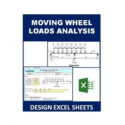 Moving Wheel Loads Analysis Design Excel Sheet