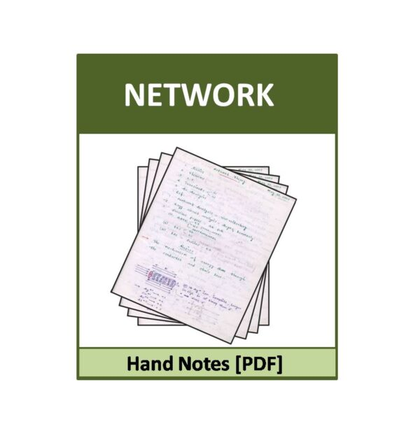 Networks-ACE-EC Hand notes