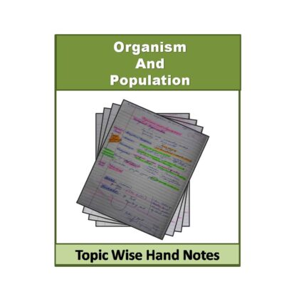Organism and Population Biology (Free) Hand Note
