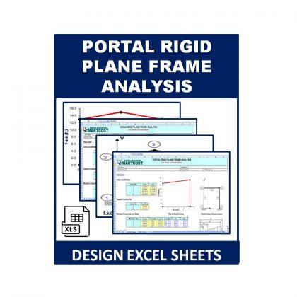Portal Rigid Plane Frame Analysis Design Excel Sheet