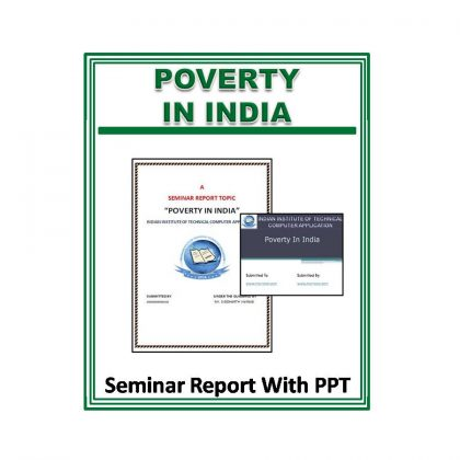Poverty in India Seminar Report With PPT