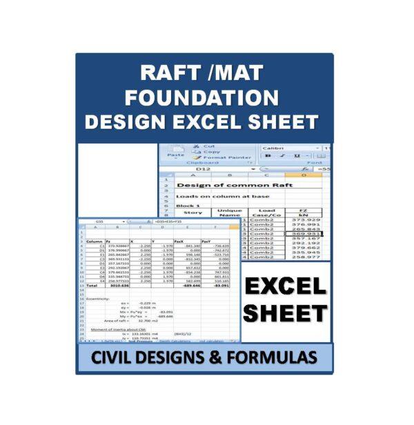 Raft MAT Faundation Design Excel Sheet