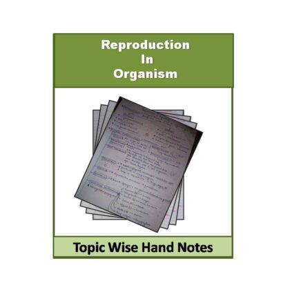 Reproduction in Organism Biology (Free) Hand Note