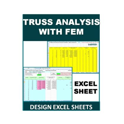 Truss Analysis with FEM Design Excel Sheet