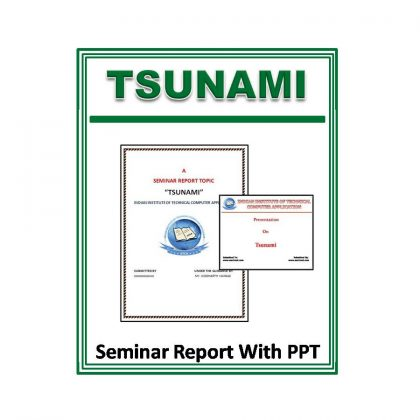 Tsunami Seminar Report With PPT
