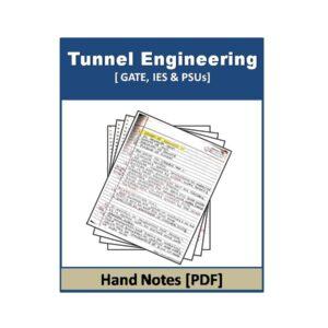 Tunnel Engineering Handwritten note 2