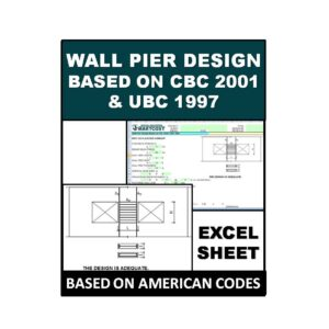 Wall Pier Design Based on CBC 2001 UBC 1997