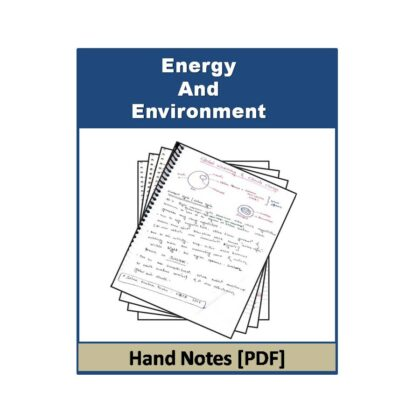 Energy And Environment (Free) Hand Note