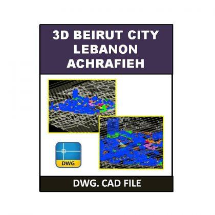 3D Beirut City (Lebanon) Achrafieh dwg CAD File