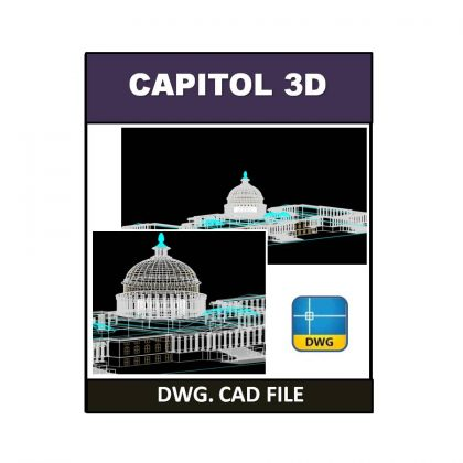 3D Capitol dwg CAD File