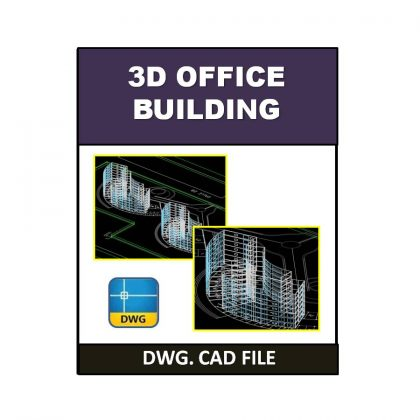 3D Office Building dwg CAD File