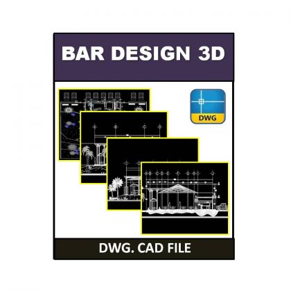 3D Bar Design dwg CAD File