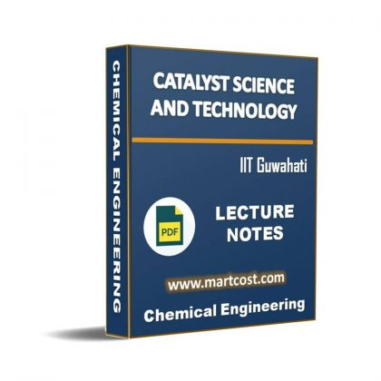 Catalyst Science and Technology Lecture Note