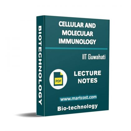 Cellular and Molecular Immunology Lecture Note