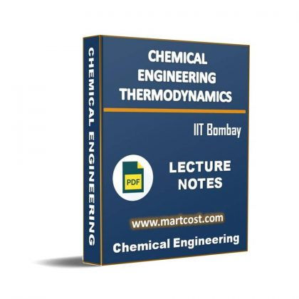 Chemical Engineering Thermodynamics Lecture Note