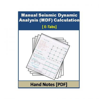Manual Seismic Dynamic Analysis (MDF) Calculation Hand note
