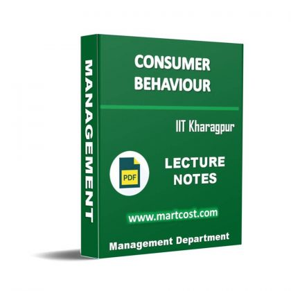 Consumer Behavior Lecture Note