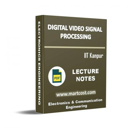 Digital Video Signal Processing Lecture Note