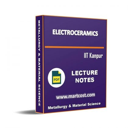 Electroceramics Lecture Note