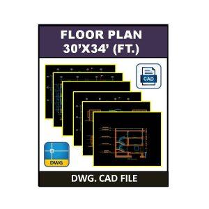 Floor Plan 30x34 (ft.)