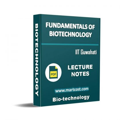 Fundamentals of Biotechnology Lecture Note