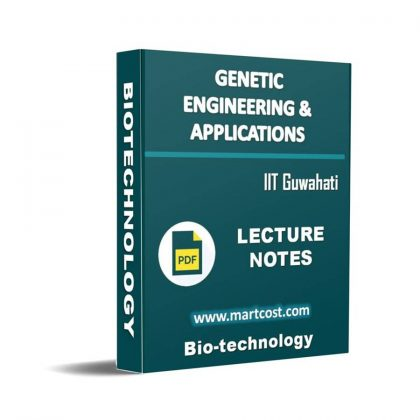 Genetic Engineering & Applications Lecture Note