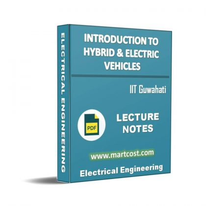 Introduction to Hybrid and Electric Vehicles Lecture Note