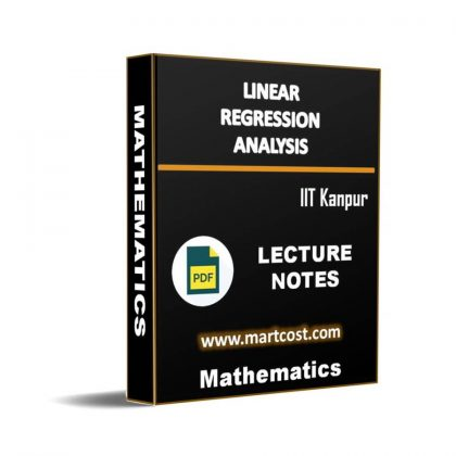 Linear Regression Analysis Lecture Note