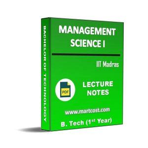 Management Science I