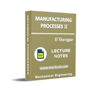 Manufacturing Processes II