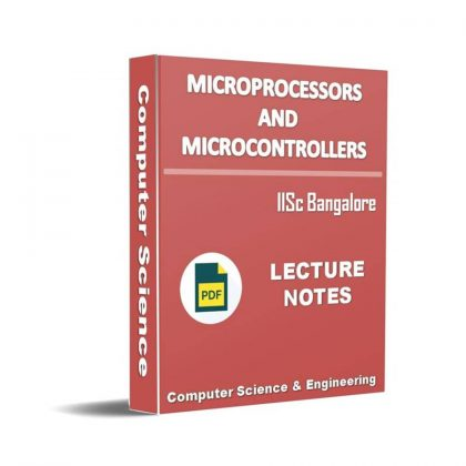 Microprocessors and Microcontrollers Lecture Note