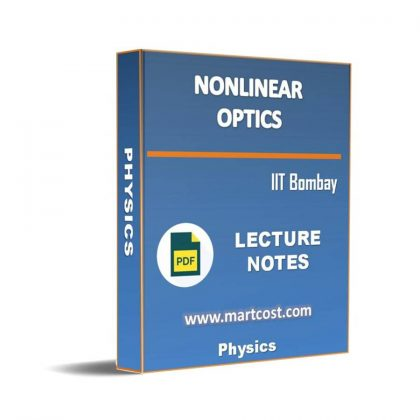 Nonlinear Optics Lecture Note