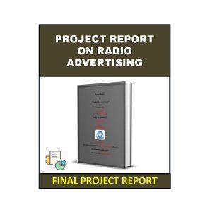 Project Report on Radio Advertising