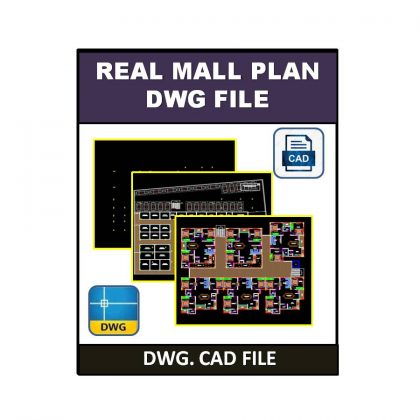Real Mall Plan dwg CAD File