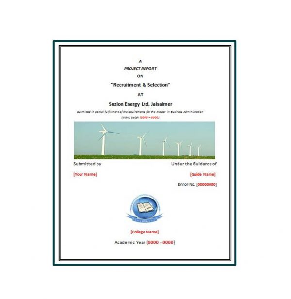 Recruitment And Selection At Suzlon Energy Ltd 1