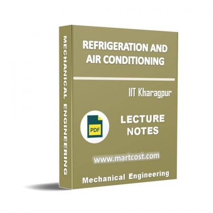Refrigeration and Air Conditioning Lecture Note