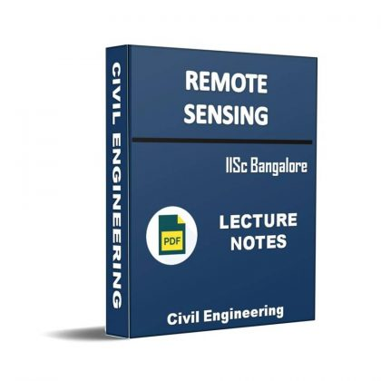 Remote Sensing Lecture Note