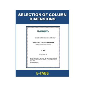 Selection of Column Dimensions 1